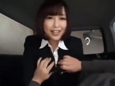 【エロ動画】客のチンポをフェラチオし中出し枕営業で車を売りまくる巨乳OLの篠田ゆう!