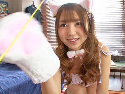 【エロ動画】飼い猫が巨乳美少女・有花もえに擬人化したのでローター・電マ責めして精子を中出し種付け