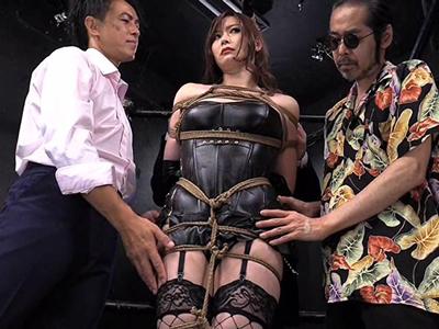 【エロ動画】ライバル店の巨乳女王様・葵百合香を玩具で輪姦レイプする鬼畜な偽M男