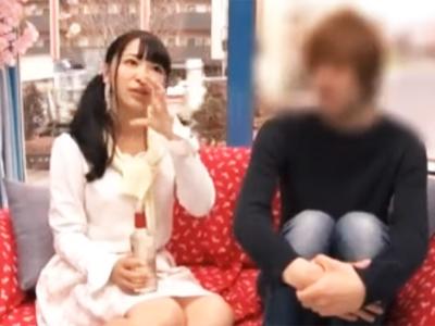 【エロ動画】MM号にナンパされた美少女がお金に釣られて騎乗位・正常位で中出しされる企画